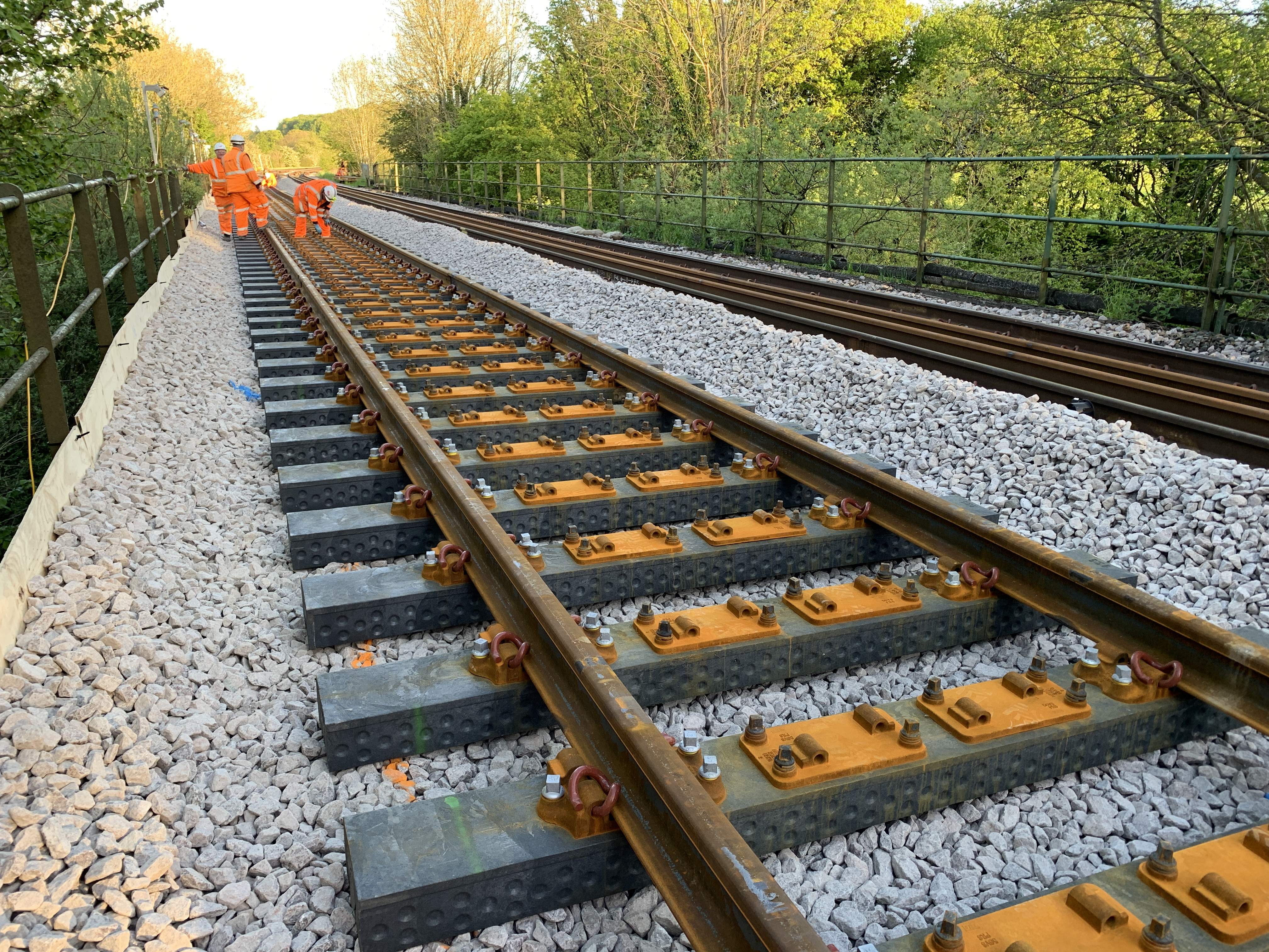 Beyond wood – first recycled plastic railway sleepers laid on ...